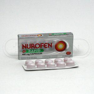Nurofen Rapid 400 mg 10 kapslí cena od 56 Kč