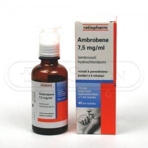 Ambrobene 7.5mg/ml 40 ml kapky cena od 56 Kč