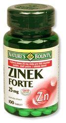 Zinek FORTE 25 mg 100 tablet cena od 149 Kč