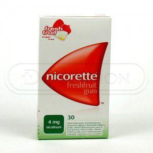 Nicorette Freshfruit Gum 4 mg 30 žvýkaček cena od 204 Kč