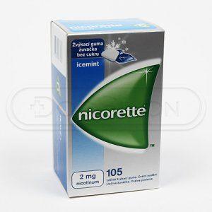 NICORETTE ICEMINT žvýkačky 2 mg 105 kusů cena od 611 Kč