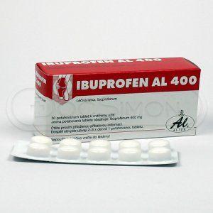 Ibuprofen Al 400 mg 30 tablet cena od 47 Kč