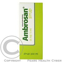 AMBROSAN 15 mg SIRUP 100 ML cena od 83 Kč
