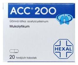 ACC 200 mg 20 tablet cena od 58 Kč