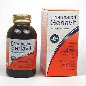 Pharmaton Geriavit 100 tobolek cena od 679 Kč