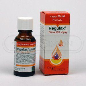 Regulax Pikosulfat kapky 150 mg 20 ml cena od 59 Kč