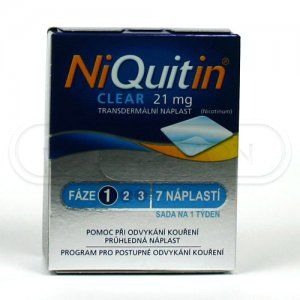 NIQUITIN CLEAR náplast 21 mg 7 ks cena od 319 Kč