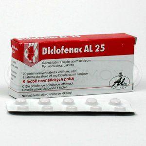 Diclofenac AL 25 mg 20 tablet cena od 45 Kč