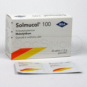 Solmucol 100 mg 30 sáčků cena od 83 Kč