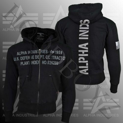 Alpha Industries Cargo Zip Mikina s kapucí