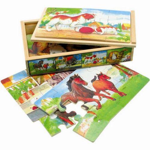 Puzzle v krabičce - zvířátka cena od 149 Kč