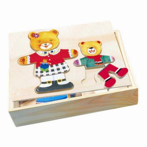 Puzzle šatní skříň - madvědice + medvídek cena od 129 Kč
