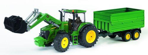 BRUDER Traktor John Deere 7930 s předním nakladačem a vyklápěcím vlekem cena od 898 Kč