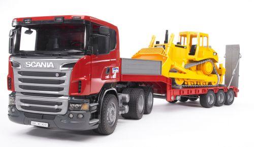 BRUDER Tahač SCANIA R s buldozerem CAT 1:16 cena od 1369 Kč