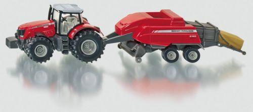 SIKU Traktor s vlekem na tvoření balíků cena od 669 Kč