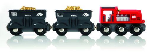 Brio Nákladní lokomotiva se 2 vagonky převážejícími zlato