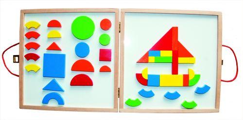 Woody Magnetický kreativní kufřík s tvary