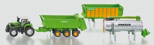 SIKU Traktor Deutz se sadou přívěsů Joskin 1:87 cena od 354 Kč