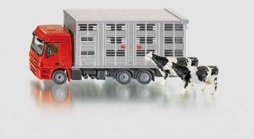 SIKU Transportér pro přepravu hospodářských zvířat + 2 krávy 1:50 cena od 599 Kč