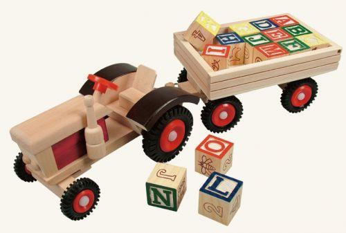 Bino Traktor s gumovými koly a vlečkou ABC cena od 389 Kč