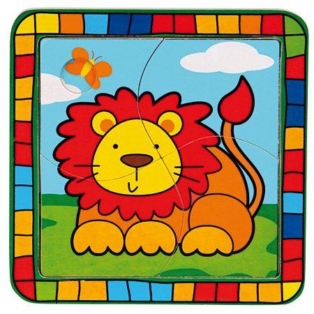 Bino Dřevěné hračky - Vkládací puzzle lev cena od 55 Kč