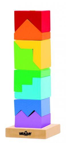 Woody Skládací věž barevná - hlavolam cena od 0 Kč