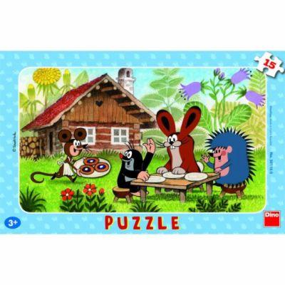 Krtek na návštěvě - Puzzle 15 deskové