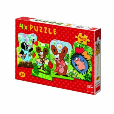 Krteček - Puzzle 4v1