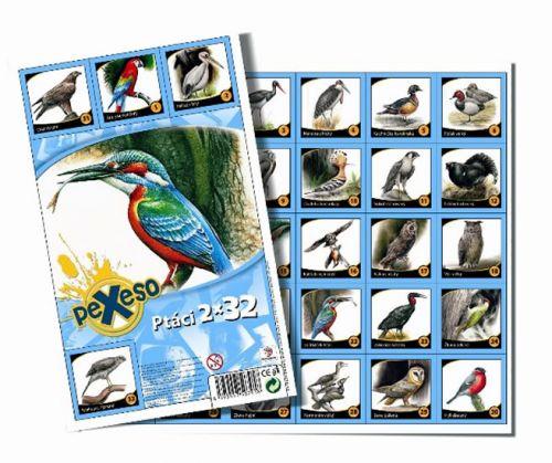 Pexeso 32 - Ptáci