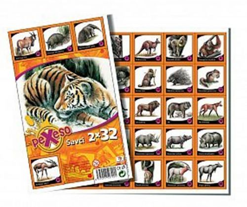 Pexeso 32 - Savci cena od 18 Kč