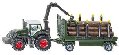 SIKU Farmer Traktor s lesním přívěsem