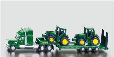 SIKU Farmer Tahač s podvalníkem a traktory John Deere