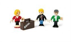 Brio Figurky maminka, tatínek a syn s kufrem cena od 220 Kč