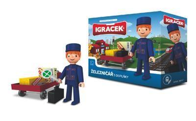 EFKO IGRÁČEK Železničář s doplňky 21017 cena od 99 Kč