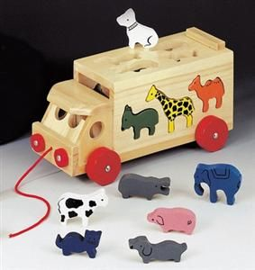 Bino Skládací kamion se zvířaty (84068)