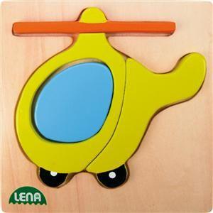 LENA Dřevěné puzzle vrtulník (32084) cena od 102 Kč