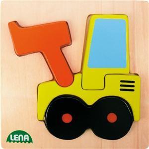 LENA Dřevěné puzzle nakladač 32082 cena od 89 Kč