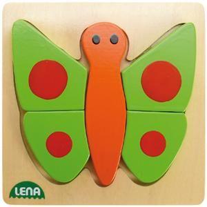 LENA Dřevěné puzzle motýl 32067 cena od 120 Kč