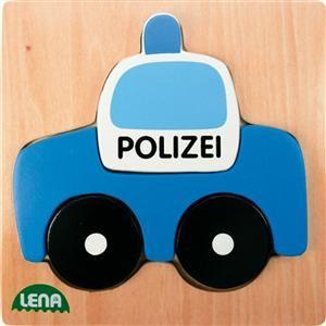 LENA Dřevěné puzzle policie (32085) cena od 89 Kč