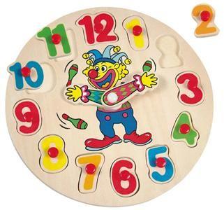 Puzzle hodiny s klaunem (20x20) cena od 80 Kč