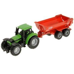 Siku Blister - Traktor Deutz se sklopným valníkem