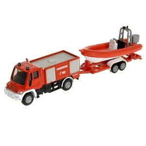 Siku Blister Požární vozidlo Unimog s člunem cena od 149 Kč