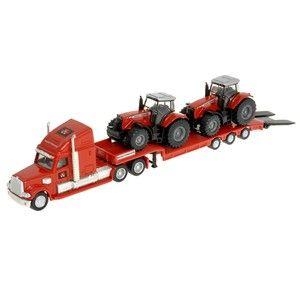 Siku Farmer - Tahač s podvalníkem a traktory Massey Ferguson cena od 0 Kč
