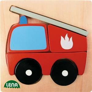 LENA Dřevěné puzzle hasič 32081 cena od 105 Kč