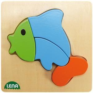 LENA Dřevěné puzzle ryba 32068 cena od 98 Kč