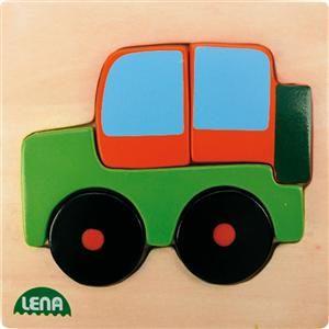 LENA Dřevěné puzzle auto 32086 cena od 105 Kč