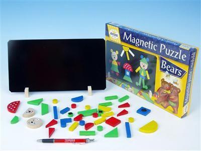 Detoa Magnetické puzzle Medvědi 12907 cena od 195 Kč