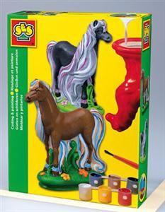 SES Sádrový komplet kůň s hřívou 1273