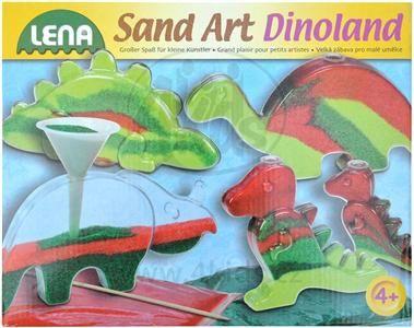 LENA Dinopark z barevného písku 42594 cena od 233 Kč