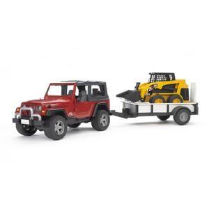 BRUDER Jeep WRANGLER + vozík BOB CAT cena od 979 Kč